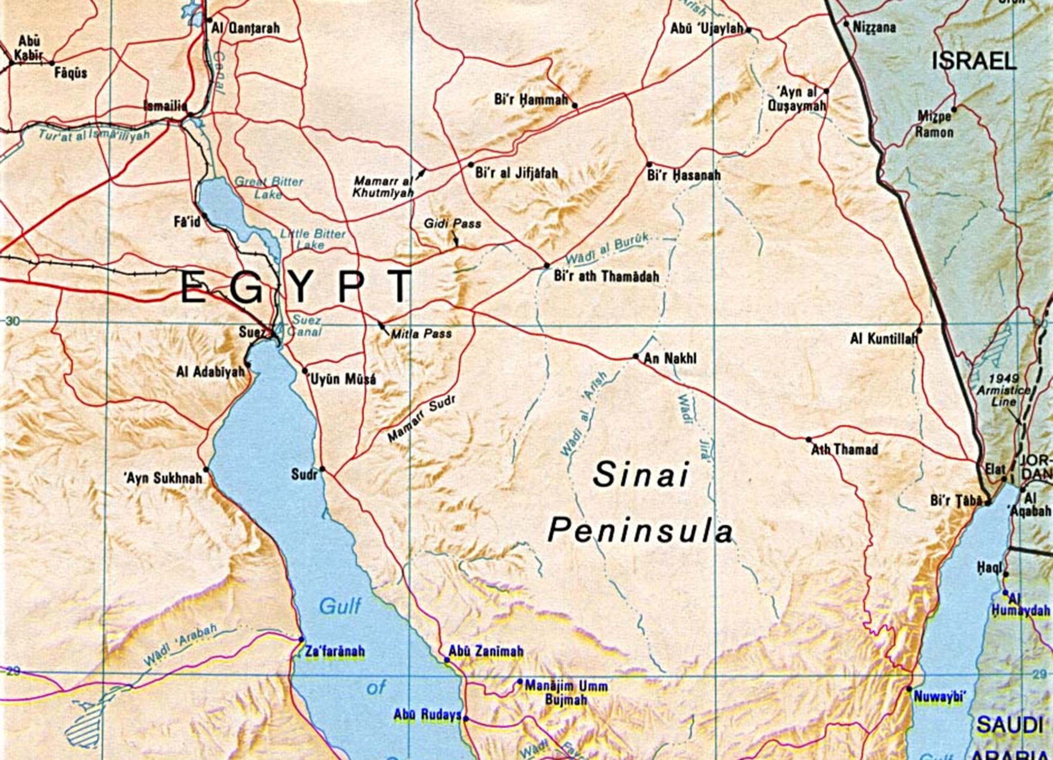 Sinai-peninsula-map